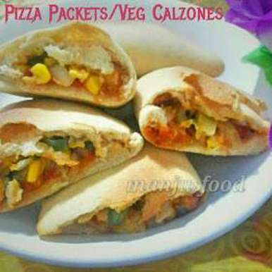 Photo of Healthy pizza packets / veg calzones by manju shah at BetterButter