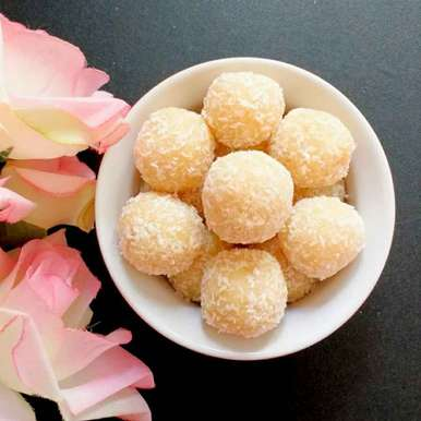 Photo of Coconut Pineapple Laddoo by manju shah at BetterButter