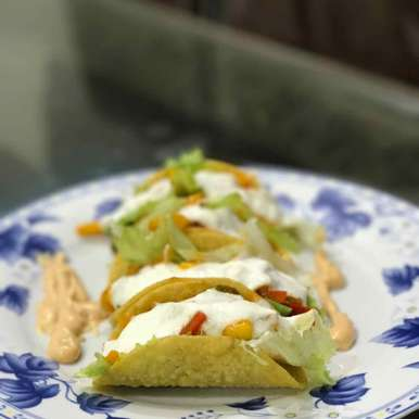 Photo of Vegetable tacos with sour cream by Mansi Mehta at BetterButter