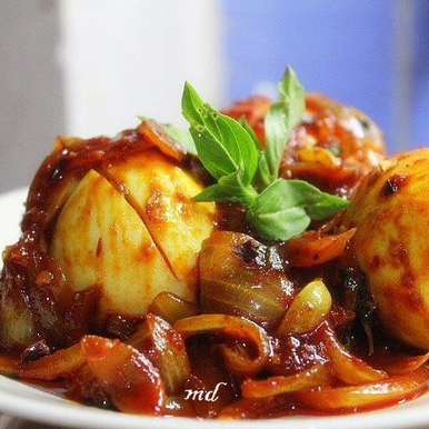 Photo of Egg with Thai Sweet Chilli Sauce by Medha Devdas at BetterButter