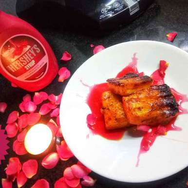 Grilled paneer with strawberry syrup, How to make Grilled paneer with strawberry syrup