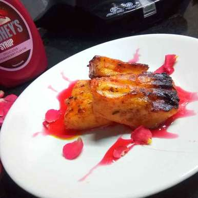 Photo of Grilled paneer with strawberry syrup by Medha Devdas at BetterButter