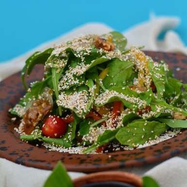 Photo of Amaranth, Walnut and Rocket Salad by Megha Kohli at BetterButter