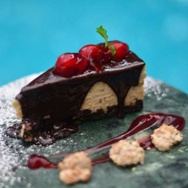 Photo of Milk Chocolate and Cherry Cheesecake by Megha Kohli at BetterButter