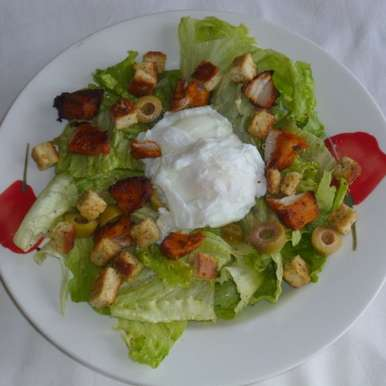 Photo of Salade Lyonnaise / Lyonnaise Salad by Menaga Sathia at BetterButter