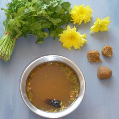 Photo of Obbattu Saaru  / Poli Rasam by Menaga Sathia at BetterButter