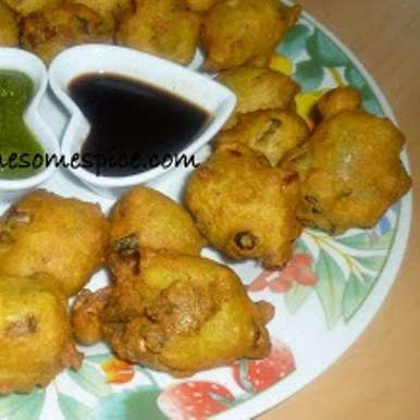 Photo of Spring Onion Bhajias – Fritters by Mina A at BetterButter