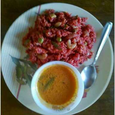 Photo of BEETroot pulav by Minal Sardeshpande at BetterButter