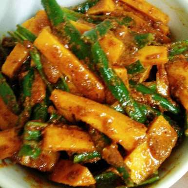 Photo of Fresh Carrot Green Chilli Pickle by Mital Viramgama at BetterButter