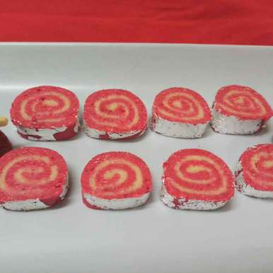 Photo of Kaju Strawberry Pinwheels by Mital Viramgama at BetterButter
