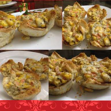 Photo of Creamy vegetables in bread cupcakes by Mona Bassi at BetterButter