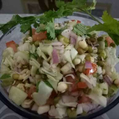 Photo of Sprout Moong Salad by Monika Sohaney at BetterButter