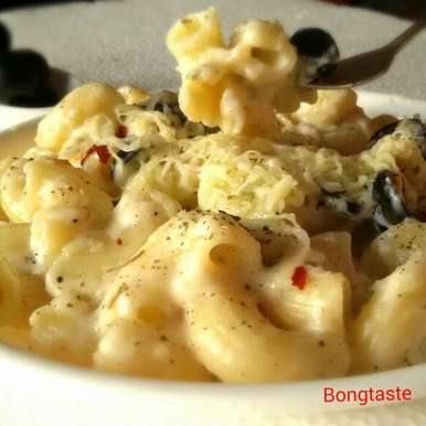 Photo of Pasta In White Sauce by Moumita Malla at BetterButter