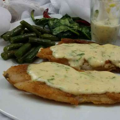 Fish in Cheese Sauce, How to make Fish in Cheese Sauce