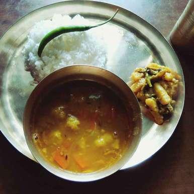 Sobji dia Mug dal recipe in Bengali,সবজি দিয়ে মুগ ডাল, Moumita Nandi