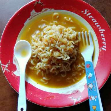 Photo of Maggi with Chicken Soup and Veggies by Moumita Nandi at BetterButter