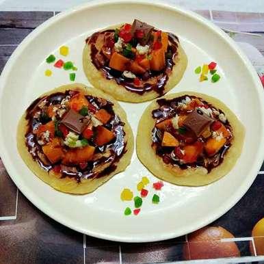 Photo of Pancake with Fruits and Chocolate by Moumita Nandi at BetterButter