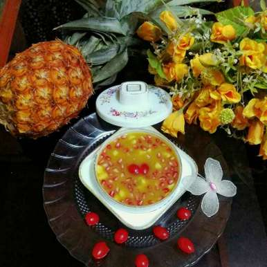 Photo of Pineapple Chutney with dry fruits and pomegranet by Moumita Nandi at BetterButter