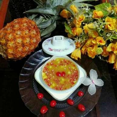 Pineapple Chutney with dry fruits and pomegranet recipe in Bengali,পাইনঅ্যাপেল চাটনি উইথ ড্রাই ফ্রুটস্ এন্ড পমিগ্রানিট্, Moumita Nandi