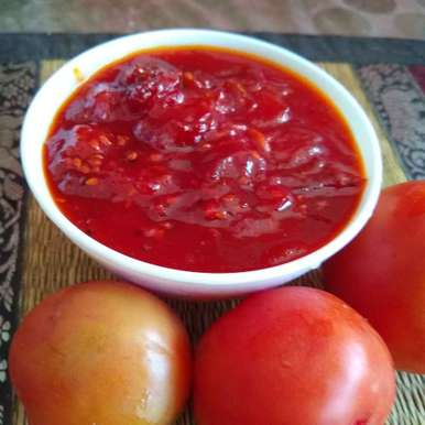 Photo of Sweet tomato chutney by Mukti Sahay at BetterButter