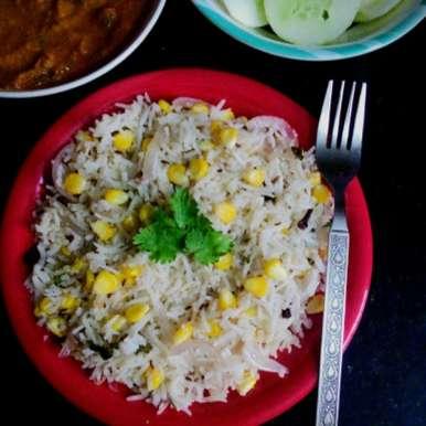 Sweet corn Jeera rice, How to make Sweet corn Jeera rice
