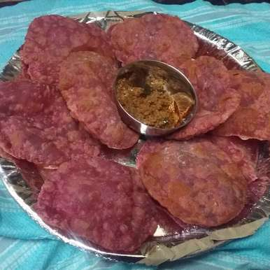 Photo of RED POORI by naga saraswathi at BetterButter