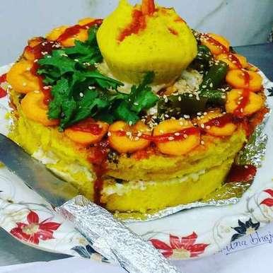 Photo of Cheesie khaman cake. by Naina Bhojak at BetterButter