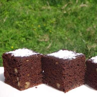 Photo of Whole Wheat Vegan Beet Walnut Cake by Namita Tiwari at BetterButter