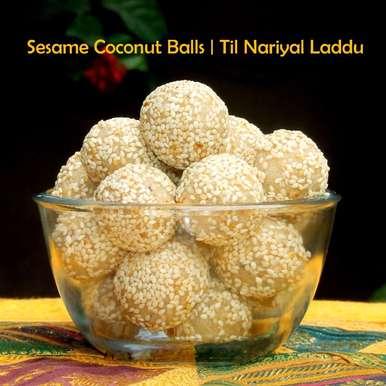 Photo of Til Nariyal Laddu   Sesame Coconut Balls by Namita Tiwari at BetterButter