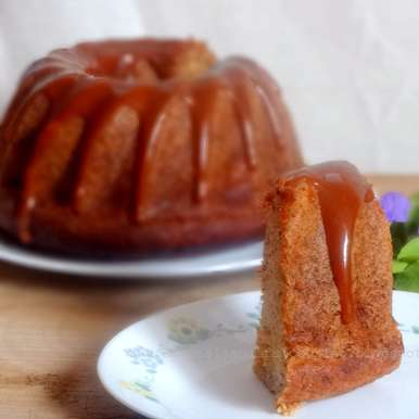 Photo of Banana Bundt Cake with Caramel Glaze by Namita Tiwari at BetterButter