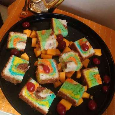 Photo of Rainbow cake by Nandini Rathore at BetterButter