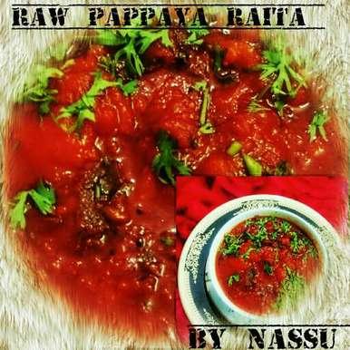 Photo of Raw Pappaya Raita by Nassu , at BetterButter