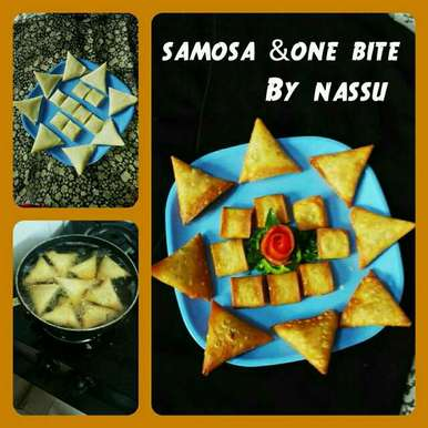 Photo of Samosa and one bite  by Nassu , at BetterButter
