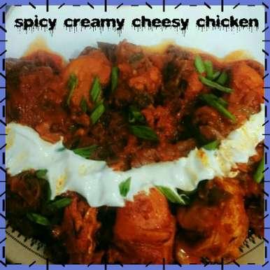 Photo of Spicy creamy chessy chicken by Nassu , at BetterButter