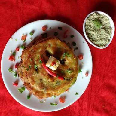 Photo of Thalipeeth from leftover poha by Nayana Palav at BetterButter