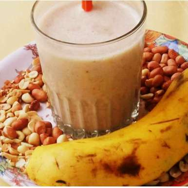 Photo of Peanut butter banana shake by Neelam Agrawal at BetterButter