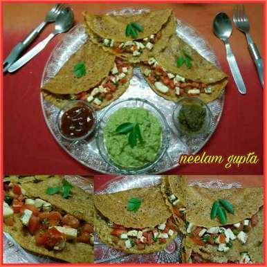 Photo of QUICK WHEAT FLOUR DOSA ( AATE KA DOSA ) by Neelam Gupta at BetterButter