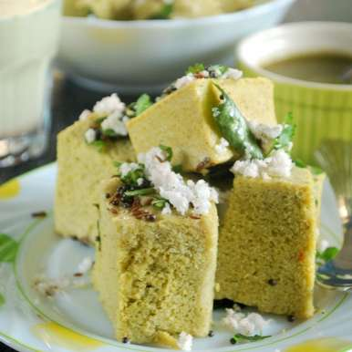 Sprouted Green Moong Dhokla, How to make Sprouted Green Moong Dhokla