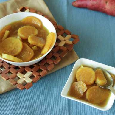 Photo of Sweet Potato in Jaggery Syrup by Neha Pahilwani at BetterButter