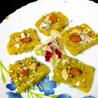 Photo of Kesariya doodh halwa by Neha Mangalani at BetterButter