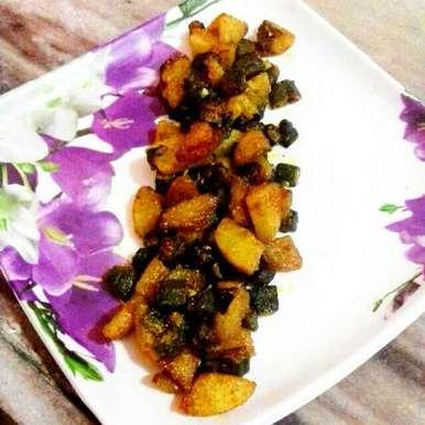 Photo of ladyfinger potato fry by Neha Mangalani at BetterButter