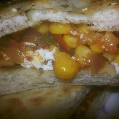 Photo of Paneer Corn stuffed Kulcha by Neha Paliwal at BetterButter
