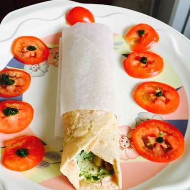 Photo of Kids special veg frankie by Neha Nikul Raval at BetterButter