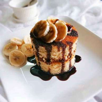 Photo of Warm Banana pudding with hot chocolate sauce by Nidhi Seth at BetterButter