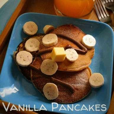 Photo of Eggless Vanilla Pancakes by Niharika Bhide at BetterButter