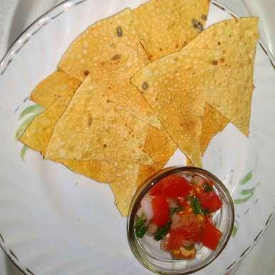 Photo of Papad nachos with salsa by Nikita Kesharwani at BetterButter