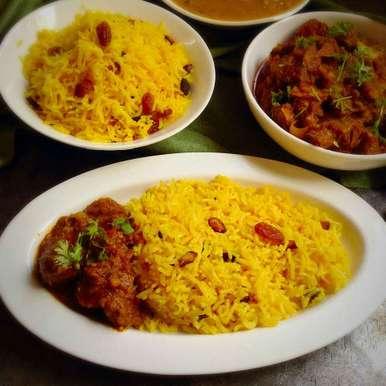 Photo of Misti Basanti pulao/Sweet yellow pulao by Nilanjana Bhattacharjee Mitra at BetterButter