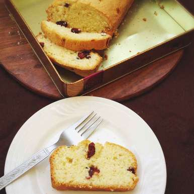 Photo of Cranberry Tea Cake by Nilanjana Bhattacharjee Mitra at BetterButter