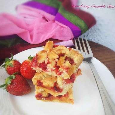 Photo of Strawberry Crumb | Crumle Bar by Nilanjana Bhattacharjee Mitra at BetterButter