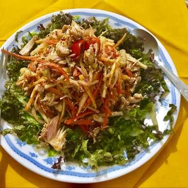 Photo of schezwan chicken salad by Nilanjana Bhaumik at BetterButter